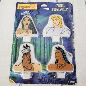 Disney Pocahontas Cake Topper Candles Set of 4